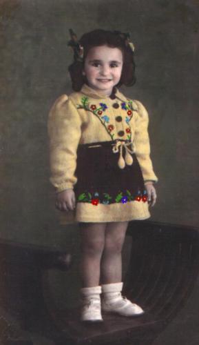 Mimmuccia a tre anni
