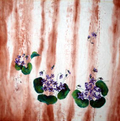 Cuscino con violette