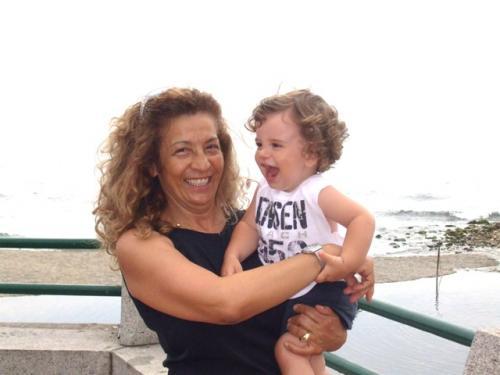 Rita e il nipotino Edoardo