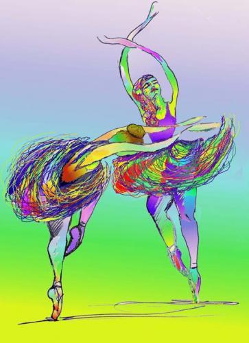 Schizzo di ballerine