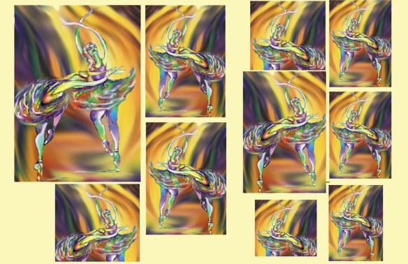 Schizzo di ballerine tridimensionale